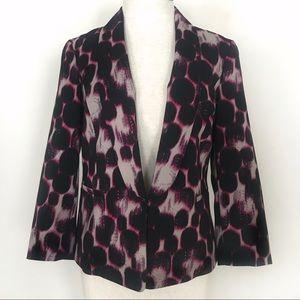 Kasper Pink Black Watercolor Print Jacket Blazer 6